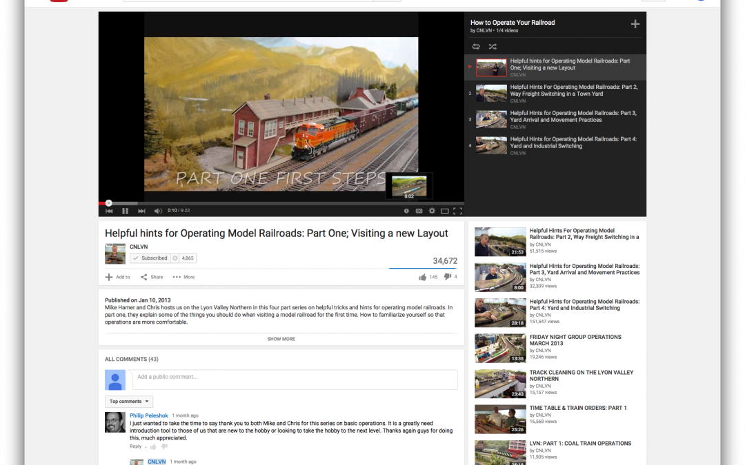 Helpful hints for Operating Model Railroads