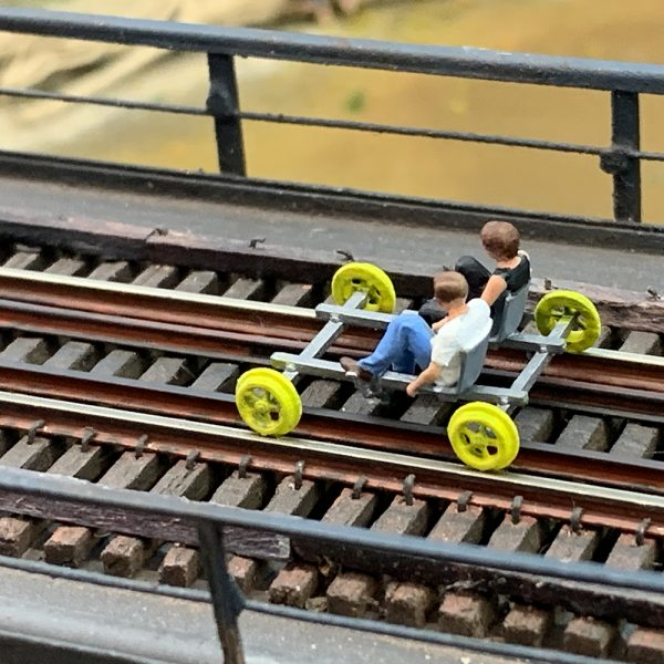 Scale model railbike
