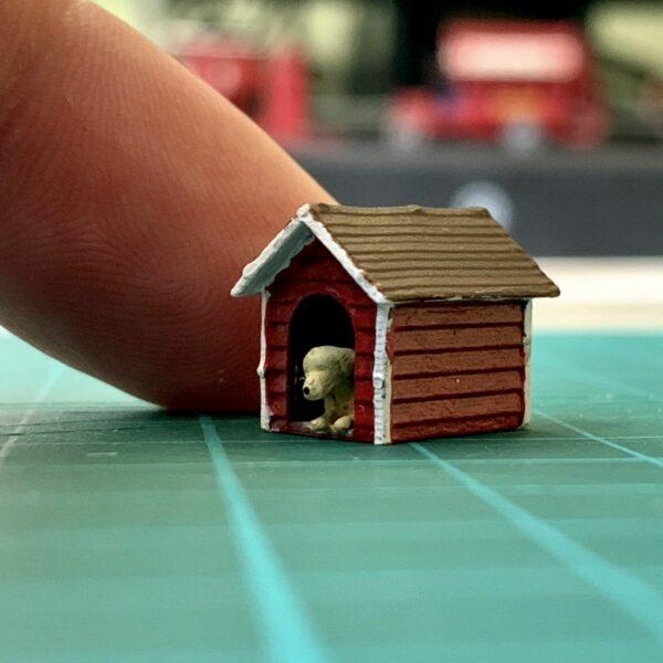 Miniature model doghouse
