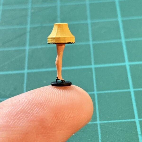 Scale model leg lamp