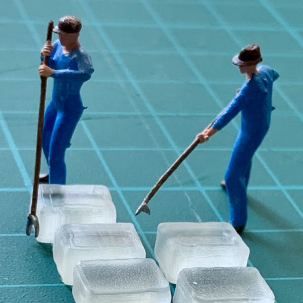 Ice workers scale model